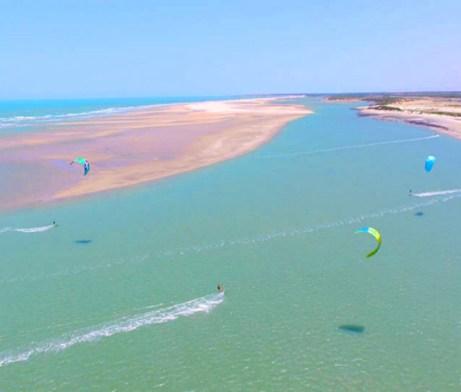 Freeride Kitesurf Parajuru, Brazil