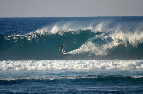 Charging the reef at Kingfisher
