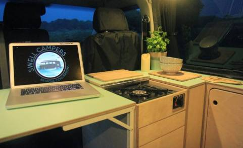 VW conversion kitchen