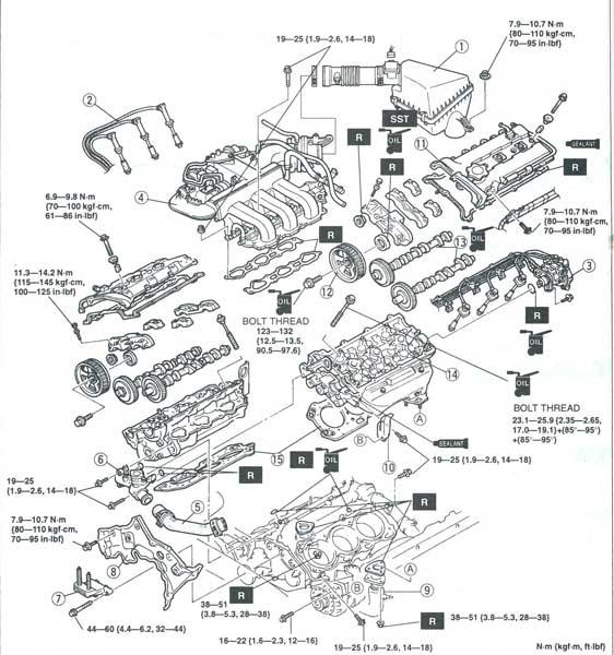 Mazda 626 Vacuum Diagram, Mazda, Free Engine Image For
