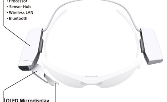 Sony's head-mounted display turns any glasses into smart