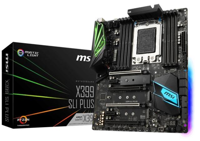 MSI X399 SLI Plus 1 MSI says its Threadripper X399 SLI PLUS motherboard focuses to help content creators