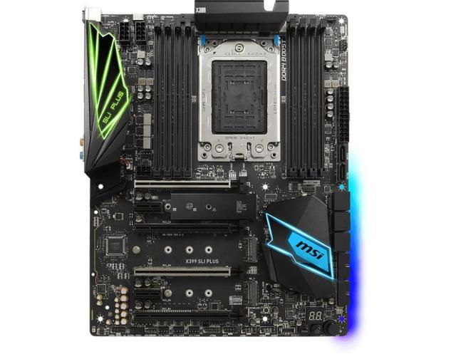 MSI X399 SLI Plus 2 MSI says its Threadripper X399 SLI PLUS motherboard focuses to help content creators