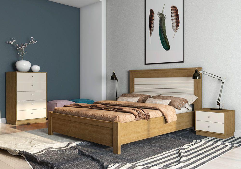 chambre a coucher munique merisier