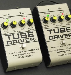 b k butler real tube overdrive the tube driver is a booster overdrive pedal with an ic and vacuum tube driven preamp circuit inside used by guitarists  [ 1307 x 920 Pixel ]
