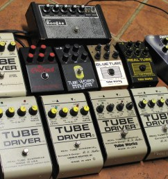 middle row left to right chandler tube driver knockoff from 1988 dean markley overlord real tube knockoff from 1988  [ 1394 x 1101 Pixel ]