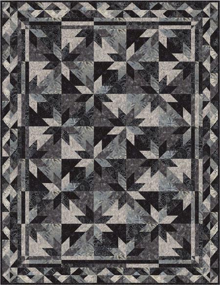 random stars quilt pattern