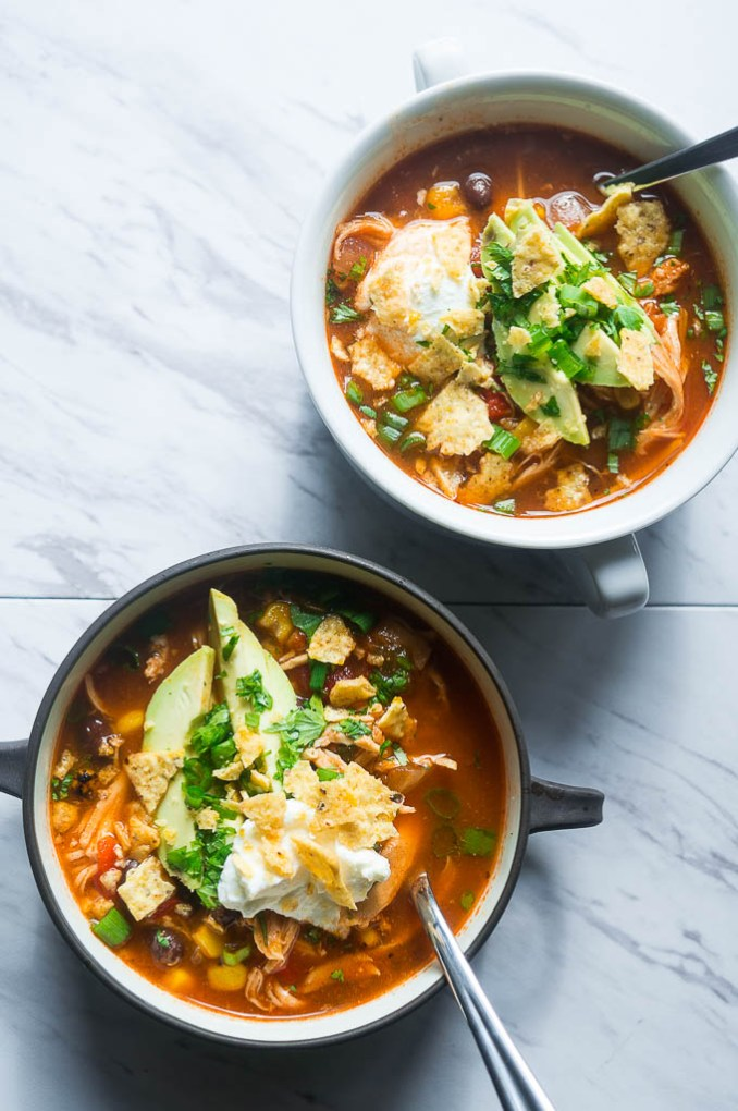 Pressure Cooker Chicken Tortilla Soup - Kitschen Cat