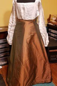 2018 Brown Silk Petticoat