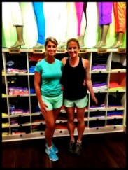 lululemon Run Ambassador Lisa and writer Chelsea at post-run cool down