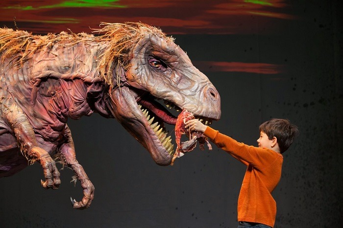 T-Rex and friend at DINOSAUR ZOO LIVE.  Photo by C. Waits