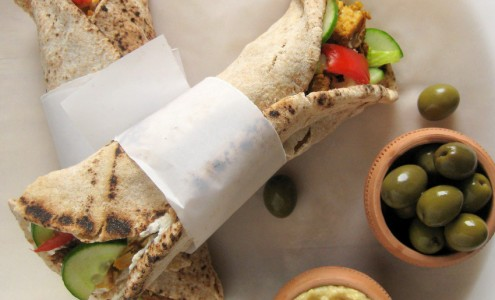 Wraps at Al Basha Restaurant in Kitsilano