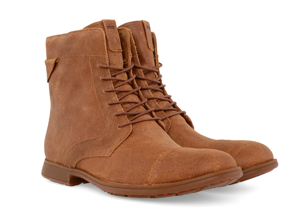 Brown leather Camper Ankle Boots available at gravitypope.