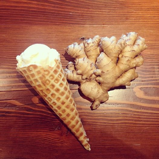Ginger with caramelized pear. Image: Rain or Shine