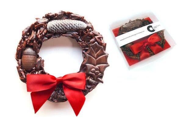 Chocolate Arts Xmas Wreath