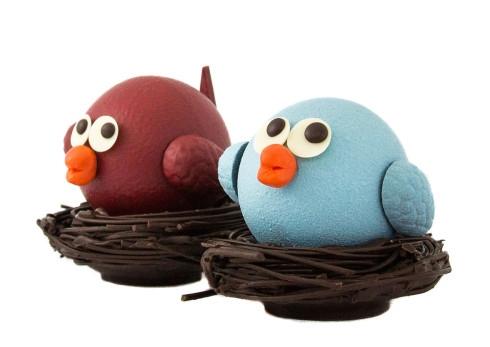 Chocolate birdies from Chocolate Arts. Image Credit: Chocolatearts.com