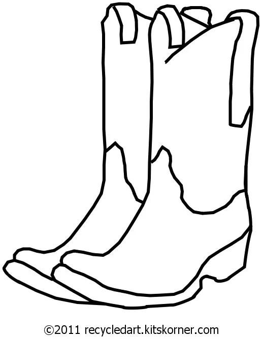 Blank Cowboy Boots Free Embroidery Pattern Kitskorner