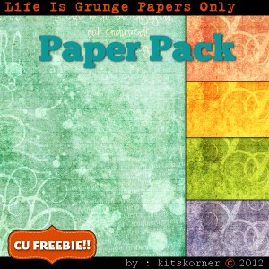 Digital Scrapbooking Paper Pack