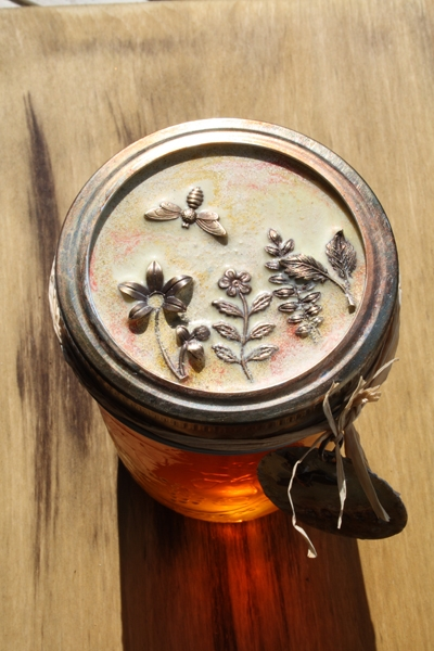 Embossed Jar Lid Tutorial