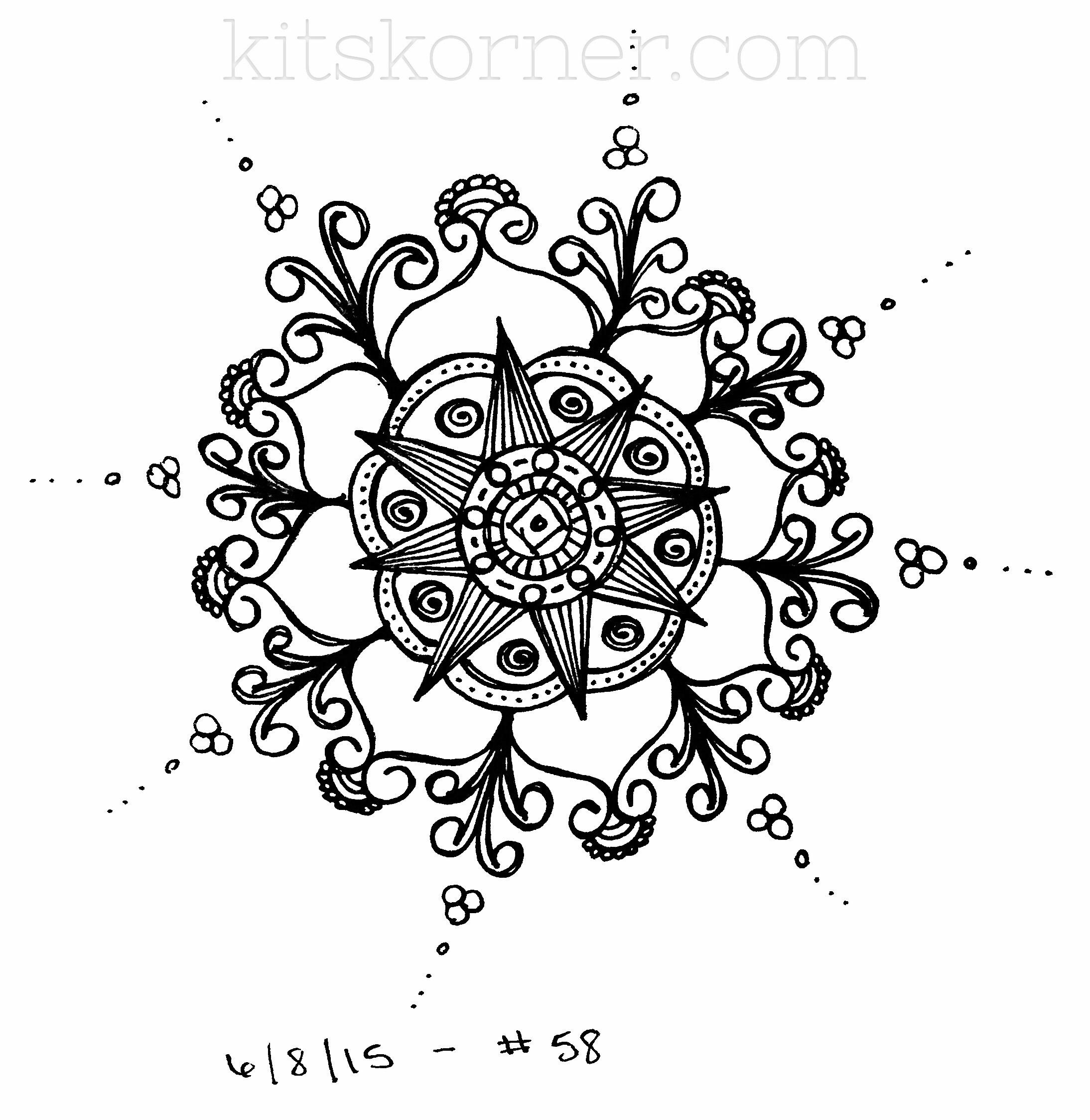 Sketchbook : 100 Mandalas Challenge Week 9 • kitskorner