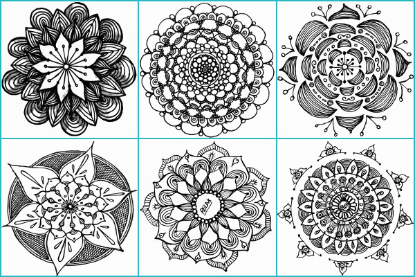 Doodle Mandalas Coloring Book 1