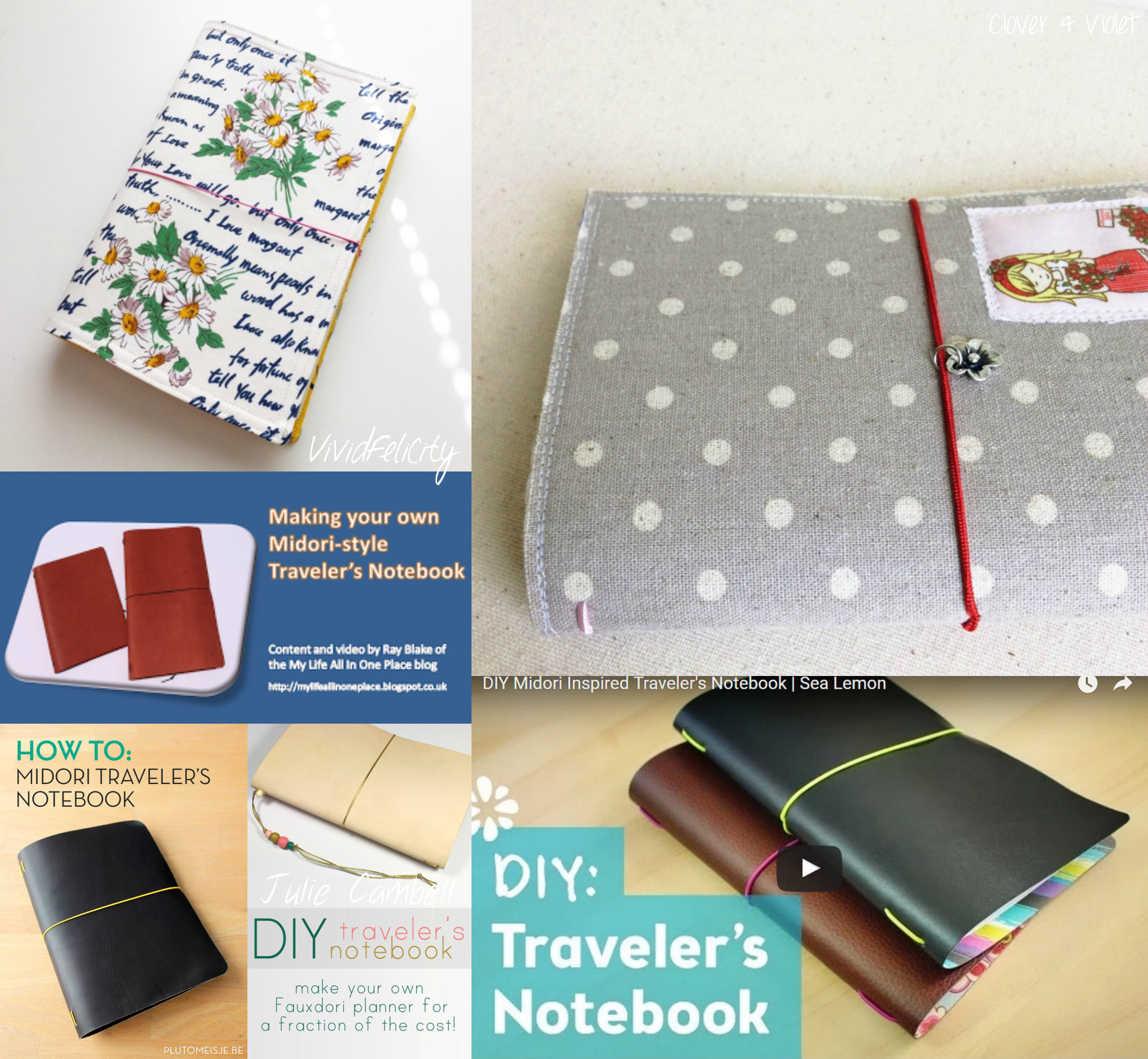 Diy Calendar Notebook : Diy midori traveler s notebook covers tutorials kitskorner