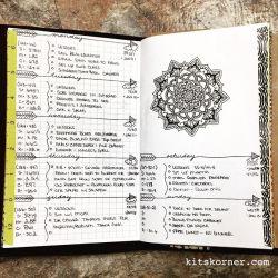 Jan 9-15 : Daily-Weekly Spread in my Mandala (BuJo) Journal…..