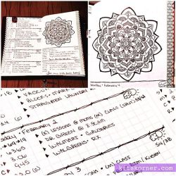 Up close in my Mandala (BuJo) Journal