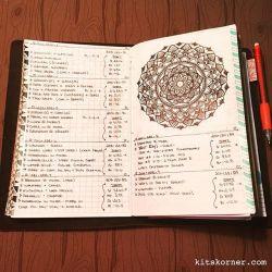Apt 3-9 in my Mandala (BuJo) Journal…..