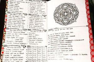 May 14-20 in my Mandala (BuJo) Journal…..