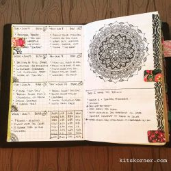 June 4-10 in my Mandala (BuJo) Journal…..