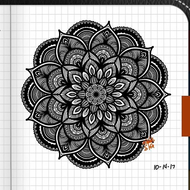 TBT : Closeup of Bullet Journal Mandala from 10/14/17