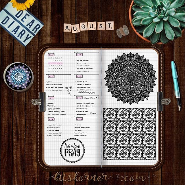 Aug 6-12 in my Digital Bullet Journal.. My happy place just got happier!