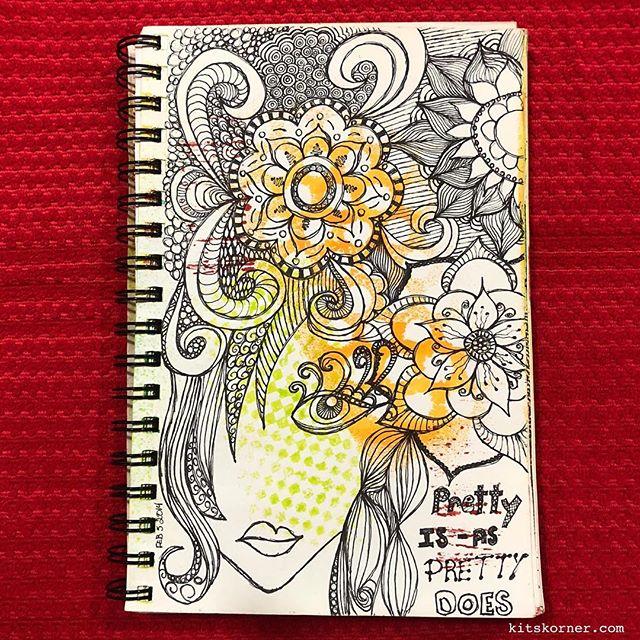 TBT : 2014 Sketchbook Zentagle Doodles 2/5/14