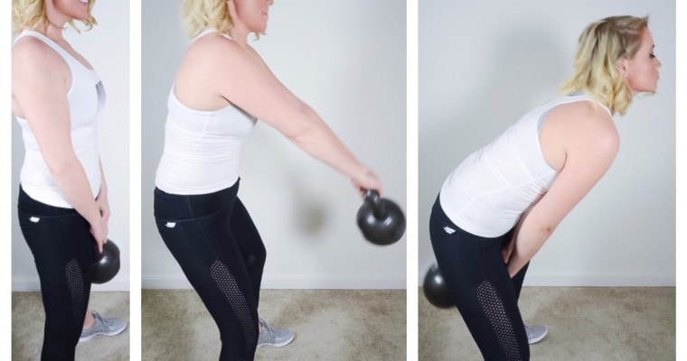 Powerful Back 45lb Kettle-bell Workout Circuit