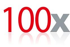 100 x noise drop