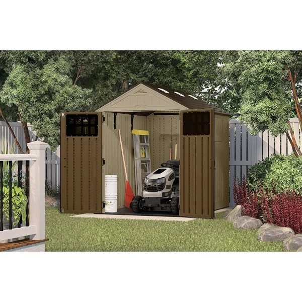 Suncast 6x8 Sierra Storage Shed Kit w Floor BMS6800D