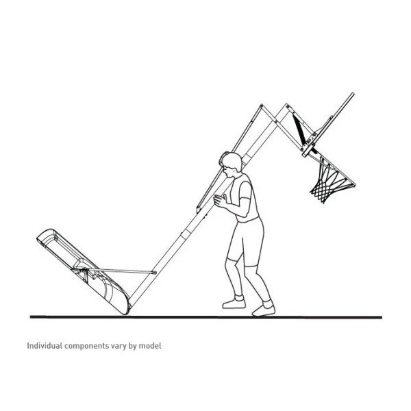 Lifetime 48 in. Courtside Portable Basketball Hoop 1531