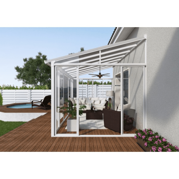 Palram 10x14 San Remo Patio Enclosure Kit  White HG9060