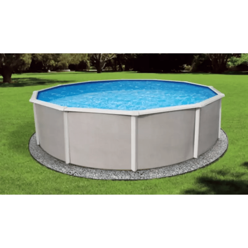Complete above ground pool packages. Blue Wave Belize 24 Round 52 Steel Pool Kit Nb2528