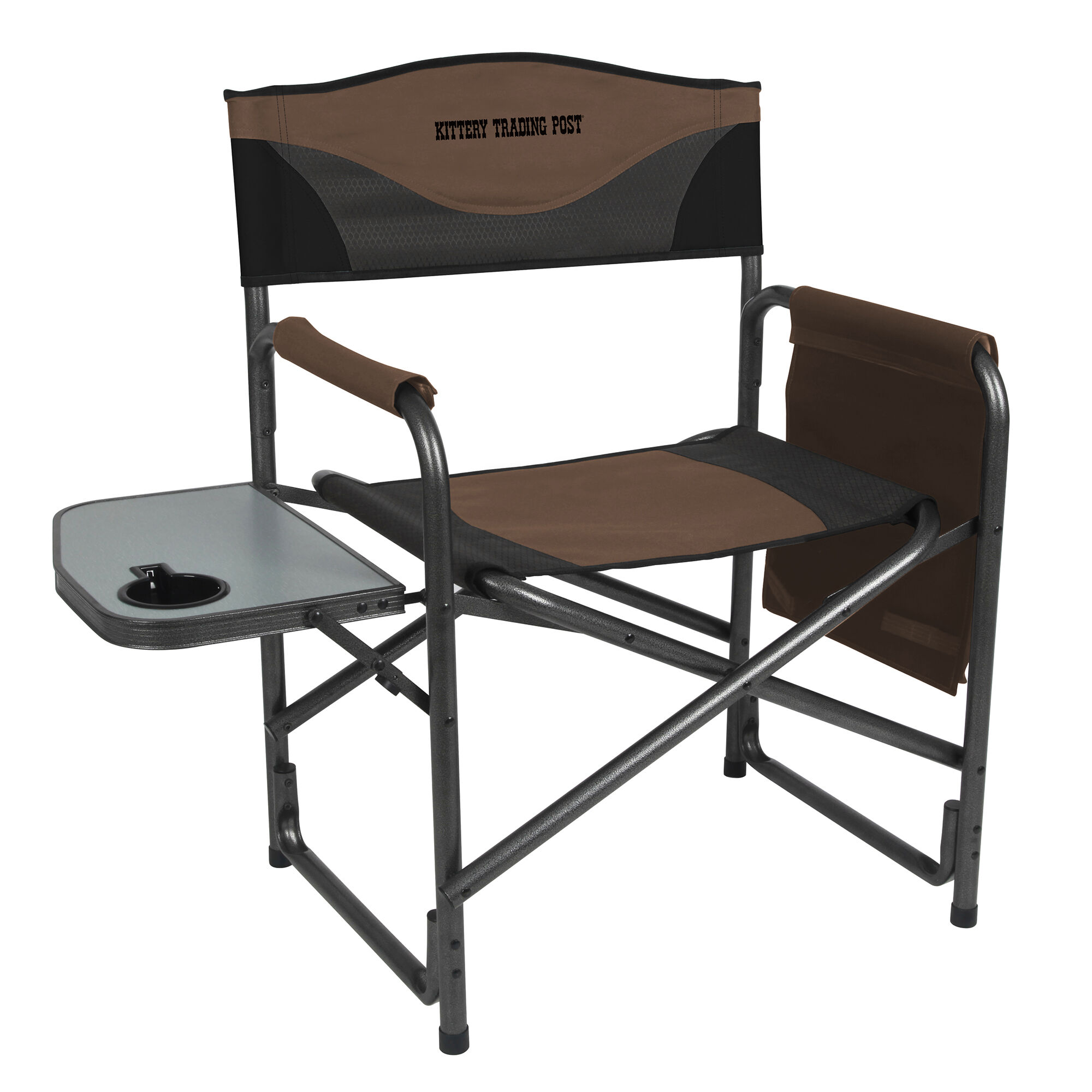 aluminum directors chair brown leather high back dining chairs portal director s w side table kittery trading post logo