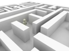 Picture of someone trapped in a maze because of thei preconceived ideas