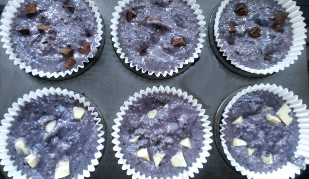 blueberry and chocolate primal muffins