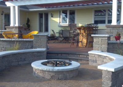 madison fireplace backyard patio