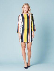 Boden Colour Block Stripe Tunic  Dress
