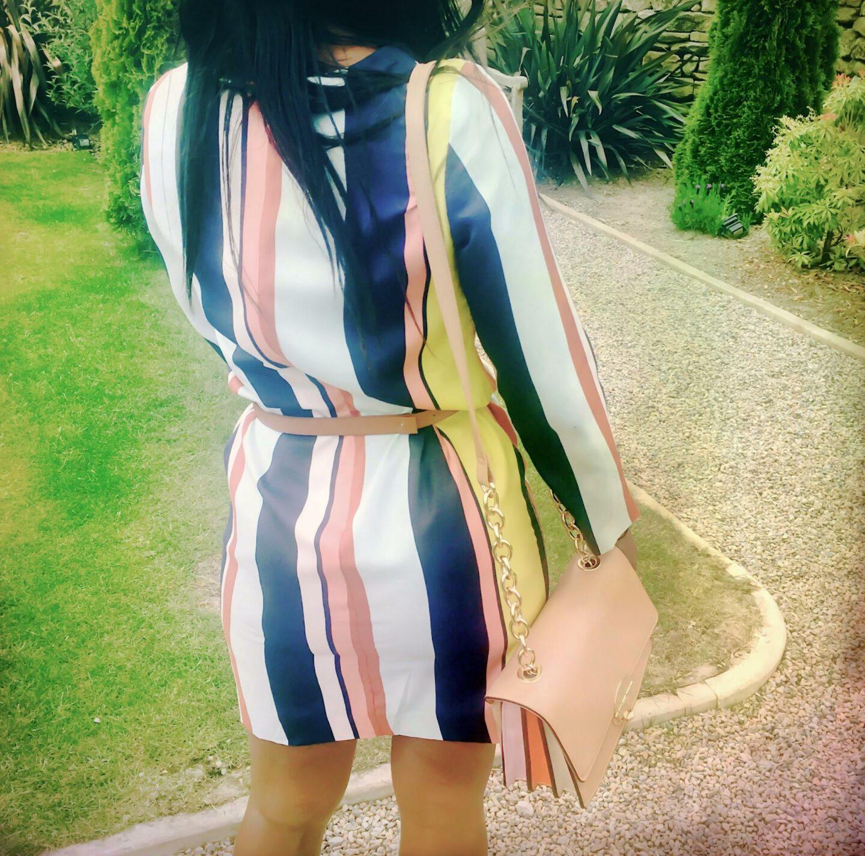 Boden Azalea Stripe Tunic Dress Kitty & B