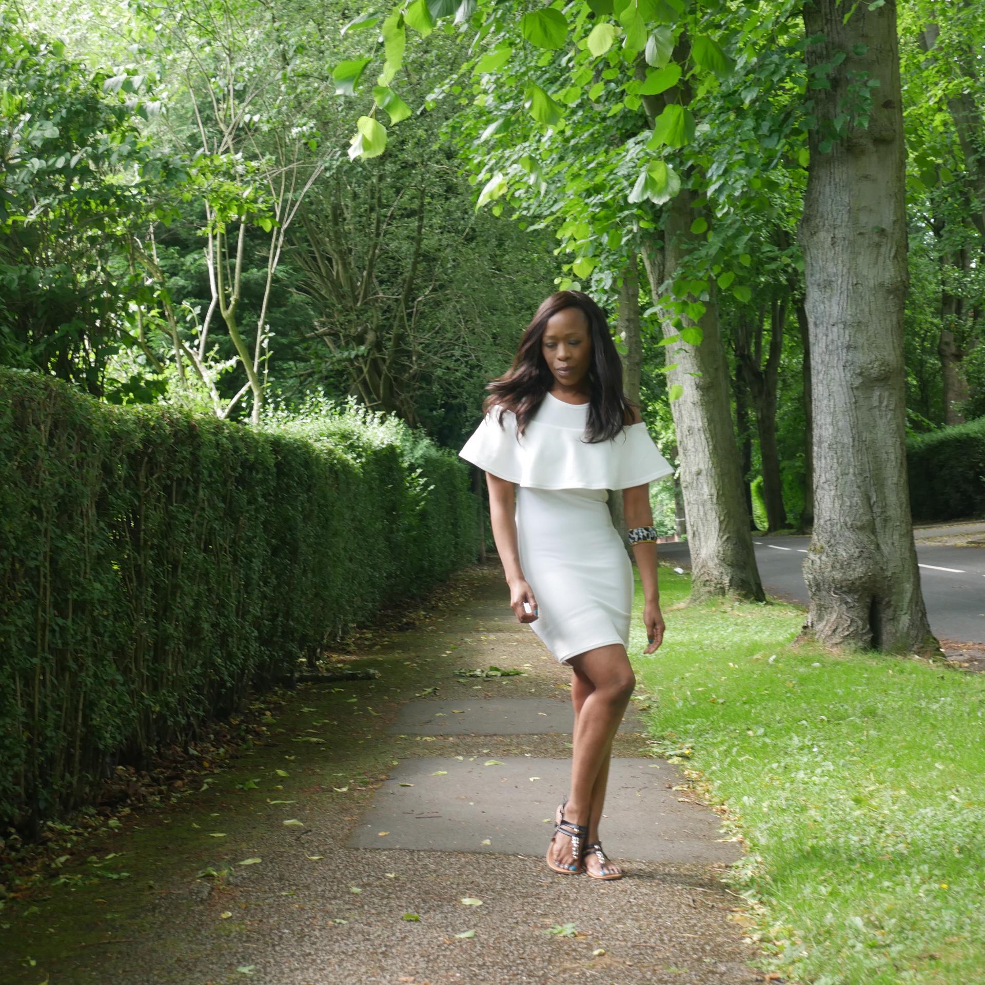 Little White Dress - Club L Dress - Kitty & B