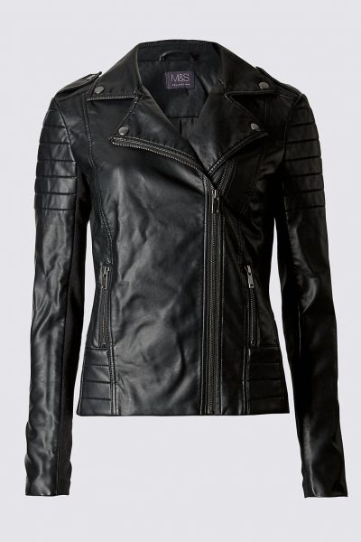 Transition Wear Faux Leather Jacket Kitty and B