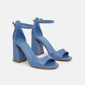 Blue Block Heel