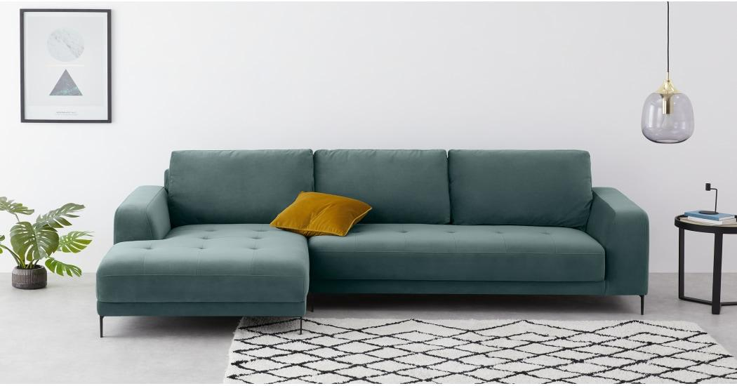 Marine Green Corner Sofa